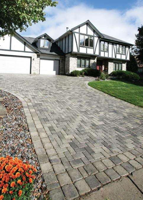 Brickstone paver driveway