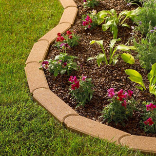 Bullet edging for yard and garden