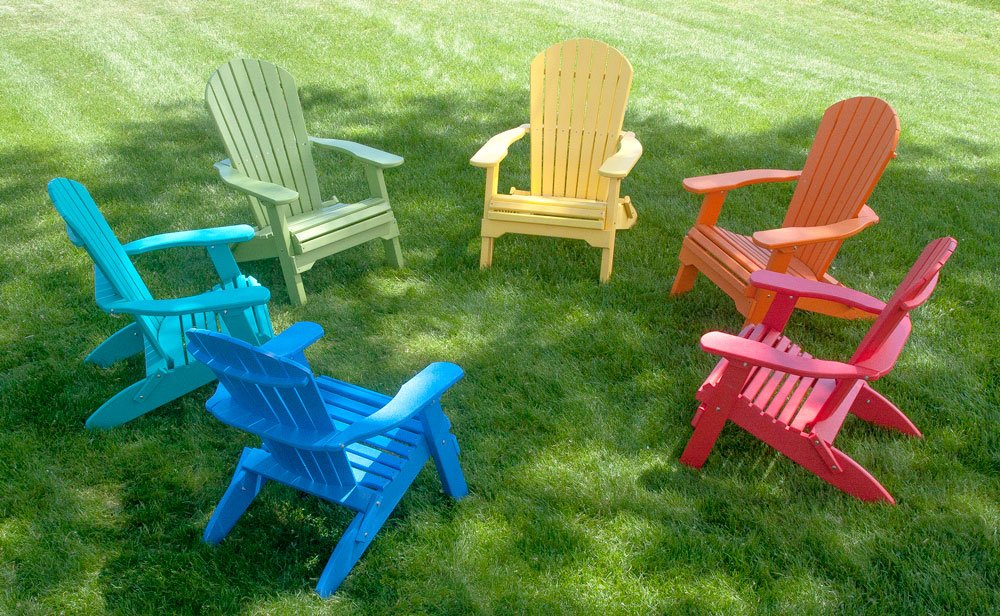 Comfort Craft maintenance-free outdoor furniture in Adirondack chair styles