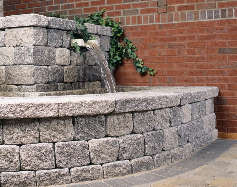 Cobble Retaining Wall System Patio Town
