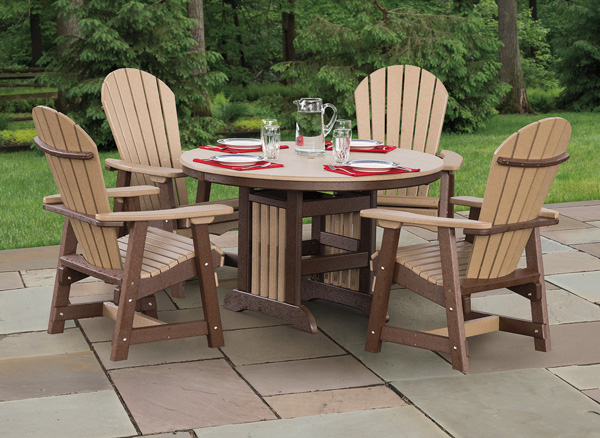 Comfort Craft never needs painting, sealing or staining. Choose from a variety of dining table and chair styles.