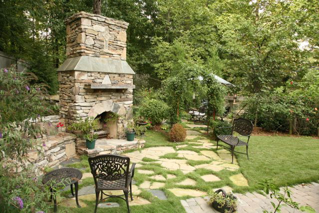 Fire Rock  Outdoor Fireplace
