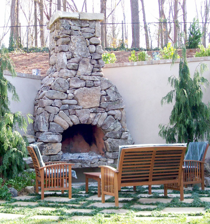 Fire rock outdoor fireplaces patio town for Firerock fireplaces