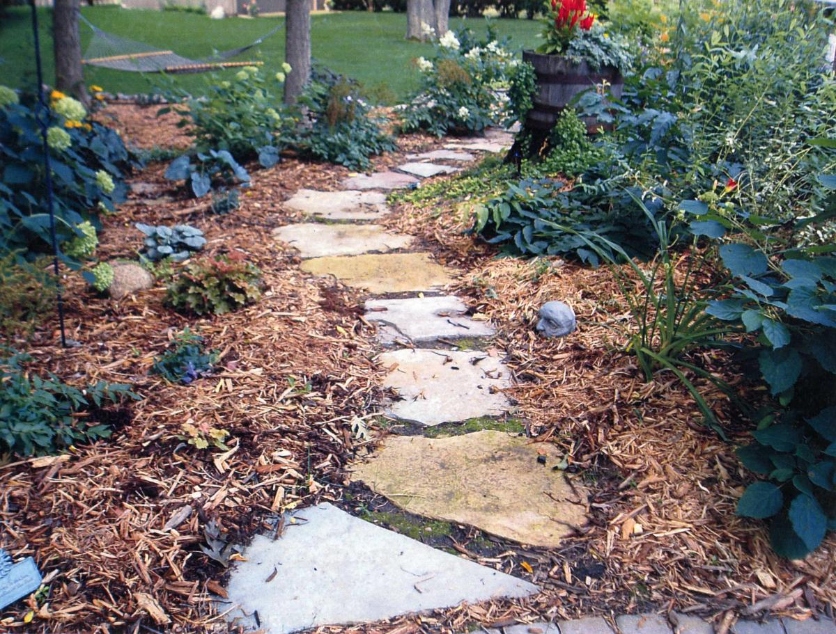 Flagstone wall stone patio town Natural stone walkways
