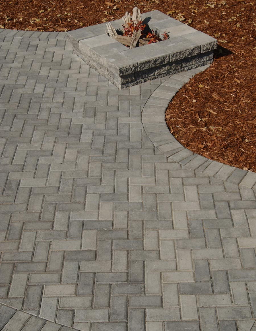Holland pavers recall the colonial Americana look of brick-paved streets  and offer a rich palette of colors from which to choose. - Holland Pavers Patio Town