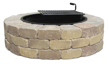 This Fire Ring is available with or without swing-away metal grate