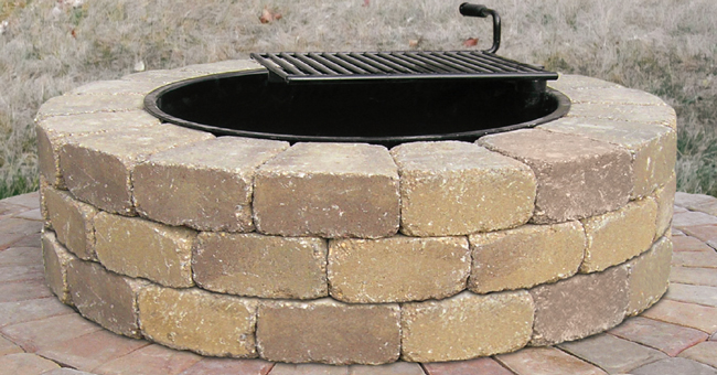Ledgestone Fire Ring Kit from Patio Town