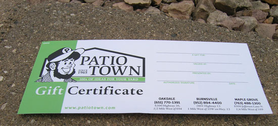 Patio Town Gift Certificate