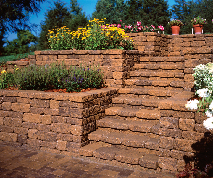 Mosaic Retaining Wall System Patio Town