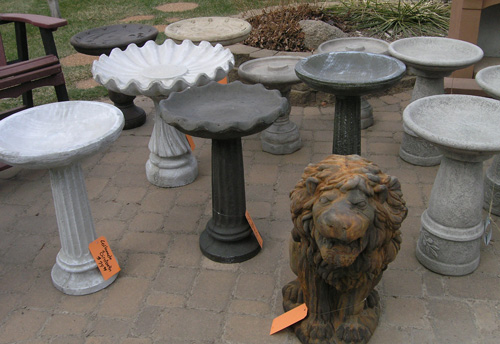 bird baths at Patio Town