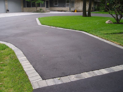 Asphalt Driveway With Paver Border Pictures 99