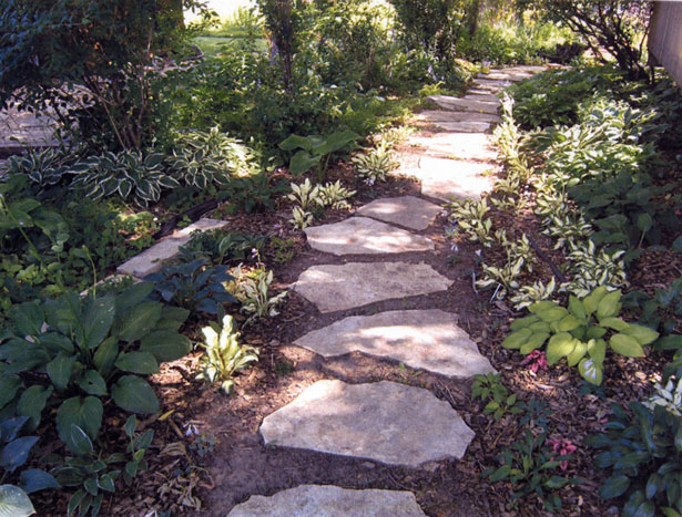 Flagstone makes an attractive, natural-looking path