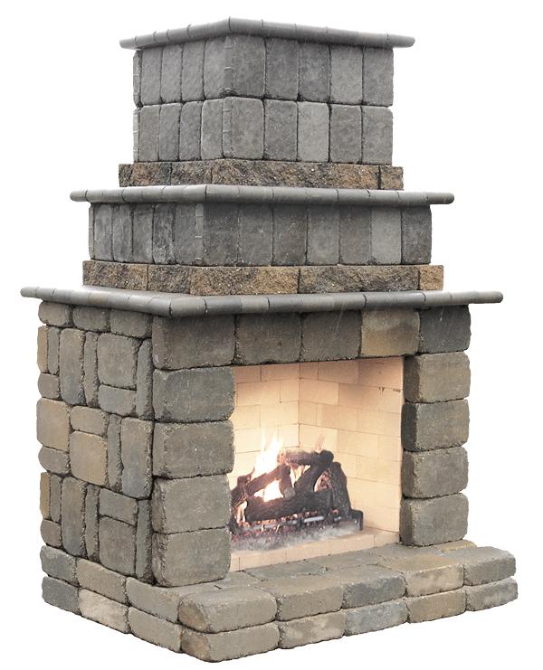"Fireplace measures 60"" wide x 52"" deep x 90"" tall"