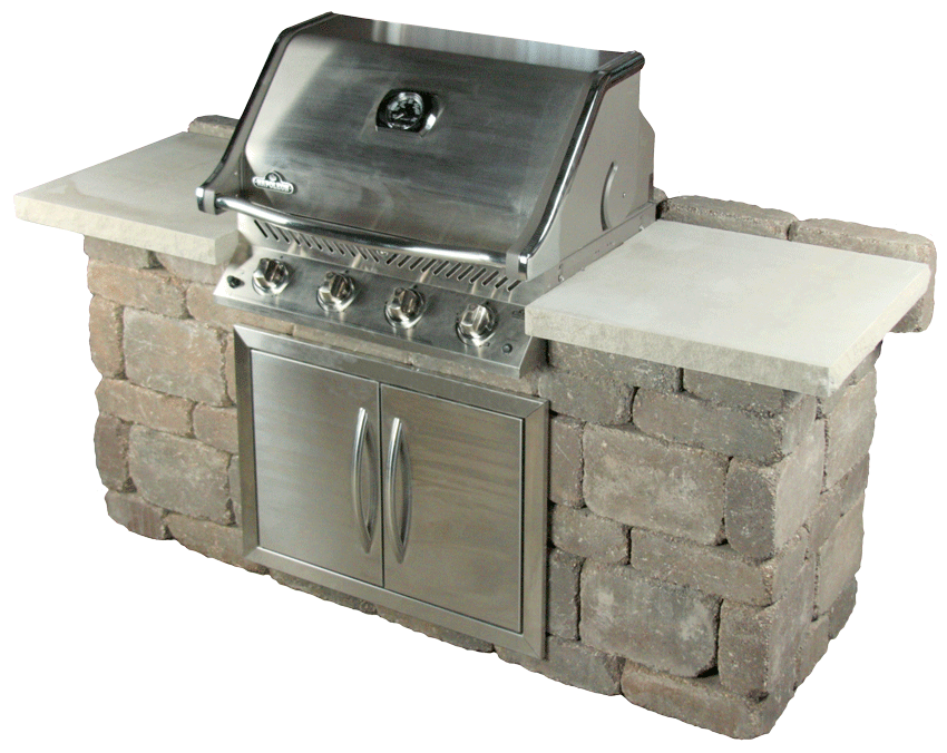 "Grill Island measures 68"" wide x 24"" deep x 36"" tall"