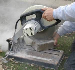 Cutting Paving Stones