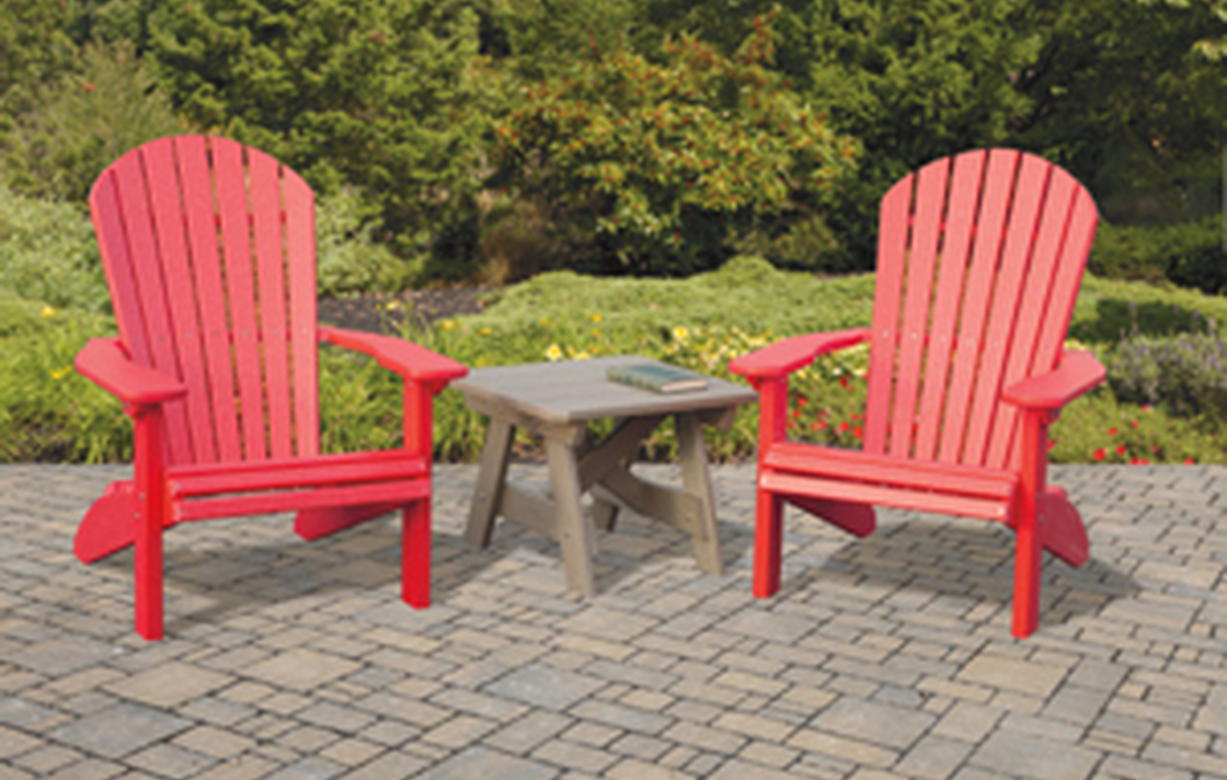 Polylumber Comfort Craft Chairs are maintenance free.