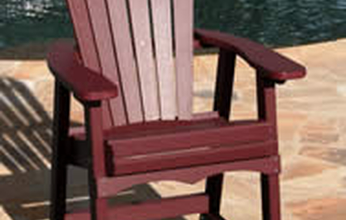 Nice outdoor furniture to make your time outside more enjoyable.