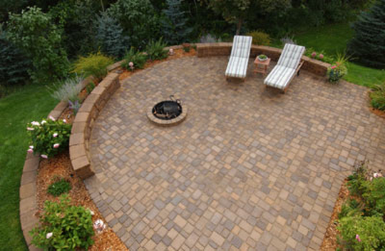 Patios fire pits patio town for Fire pit on concrete slab
