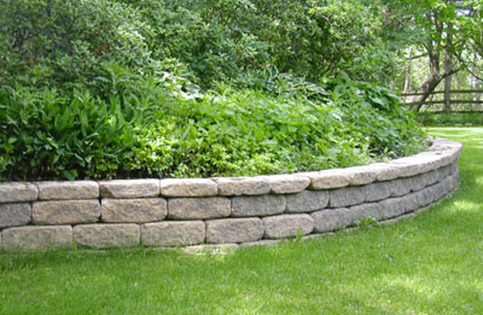 Curves, corners, tiers, stairs and column are a snap with VERSA-LOK retaining wall blocks.