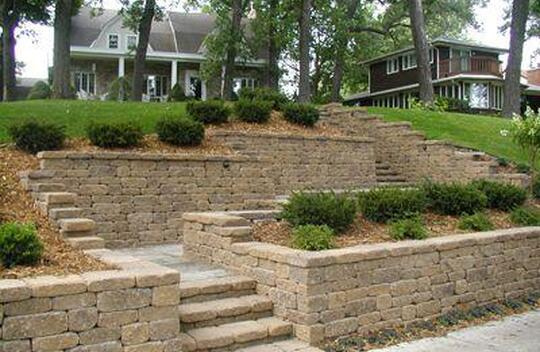 Square Foot Retaining Wall System Patio Town